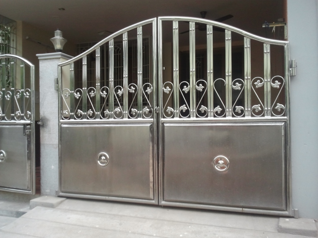 Ss steel gate design the image kid has it Metal gate designs images